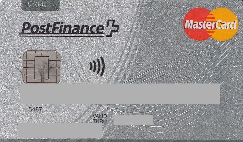 Master Card Standard PostFinance
