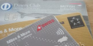 Miles and More Kreitkarten Diners Club British Airways Kreditkarten, American Express, Master Card, Diners Club
