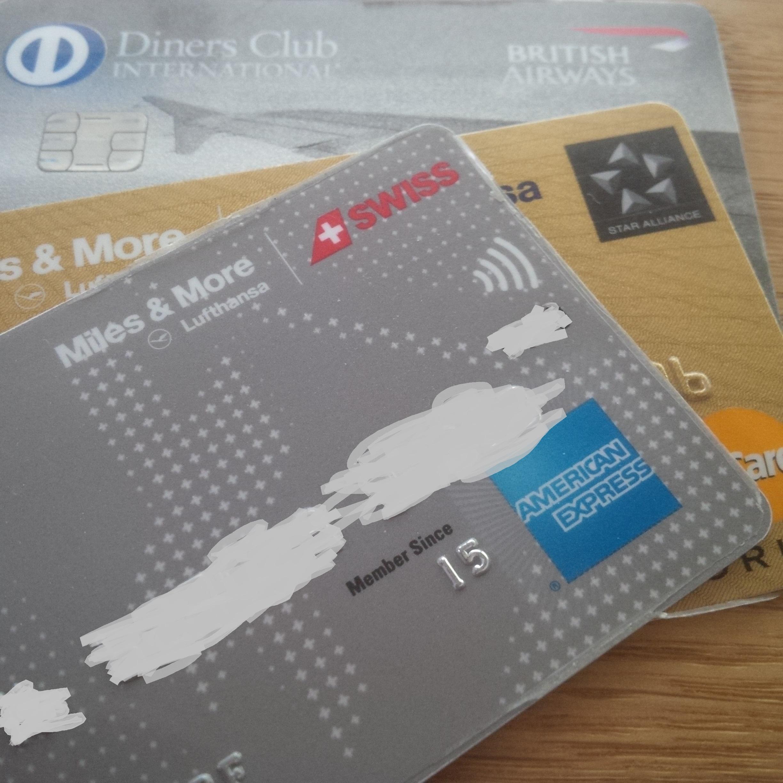 Miles and More Kreitkarten Diners Club British Airways Kreditkarten, American Express, Master Card, Diners Club